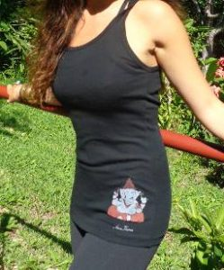 Hand Painted Yoga Shirts Pants Tote Bags For Sale Amatierra Costa Rica
